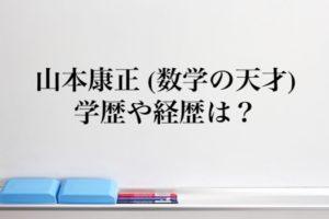 山本康正(数学の天才)の学歴と経歴