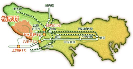 檜原村の地図1