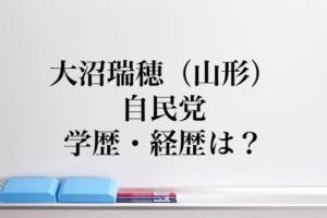 大沼瑞穂(自民党)の出身と学歴